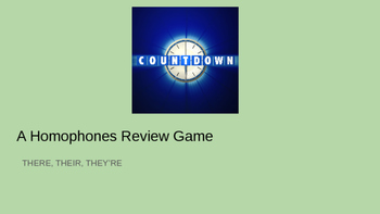There Their They're Review Game: Countdown