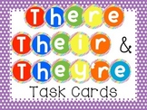 There, Their, They're Task Cards