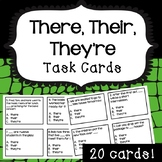 There, Their, They're Task Cards Grammar