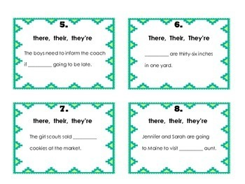 Homophones - There, Their and They're