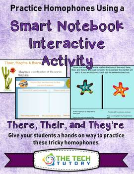 There, Their, and They're Smartboard Notebook Interactive Activity