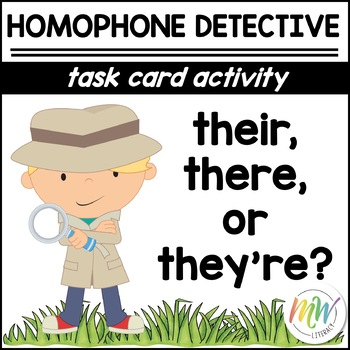 There, Their, & They're: Homophone Task Cards