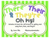 There, Their, and They're -  Oh My! Homophones Activities