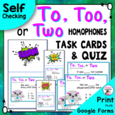 Homophones To, Too and Two