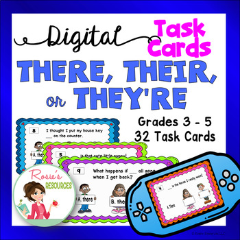 There Their or They're - Digital Task Cards