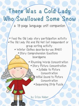 #dec16SLPmusthave A Cold Lady Who Swallowed Some Snow Language Activities