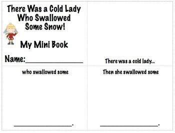 There Was A Cold Lady Who Swallowed Some Snow!  Language Unit
