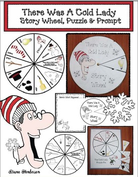 There Was A Cold Lady Who Swallowed Some Snow: Story Wheel, Puzzle & Prompt