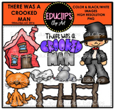 There Was A Crooked Man Nursery Rhyme Clip Art Bundle {Educlips Clipart}