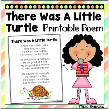 There Was A Little Turtle Who Lived In A Box, Printable Poem