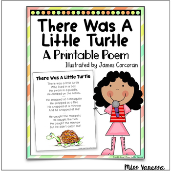 There Was A Little Turtle Who Lived In A Box Poem