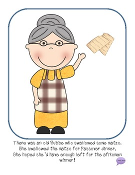 There Was An Old Bubbe Who Swallowed Some Matzo