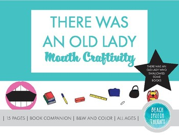 There Was An Old Lady Books - Mouth Craftivity
