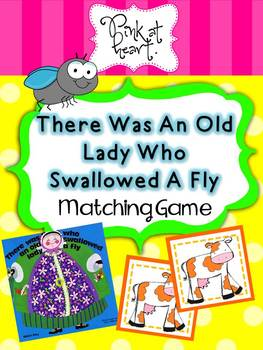There Was An Old Lady... Matching Game with Pictures
