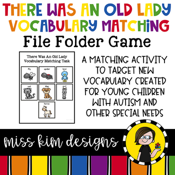 There Was An Old Lady Vocabulary Folder Game for Special Education