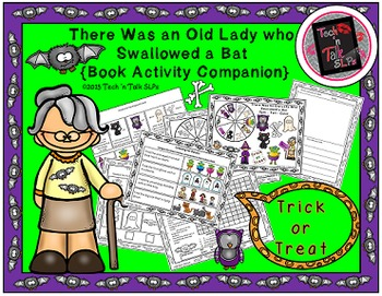 There Was An Old Lady Who Swallowed A Bat - Book Activity