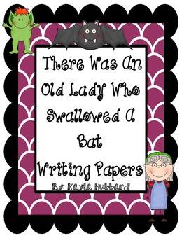 There Was An Old Lady Who Swallowed A Bat Writing Papers
