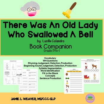 There Was An Old Lady Who Swallowed A Bell Activities Book Companion
