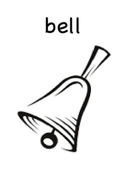 There Was An Old Lady Who Swallowed A Bell Vocabulary Picture and Word Review