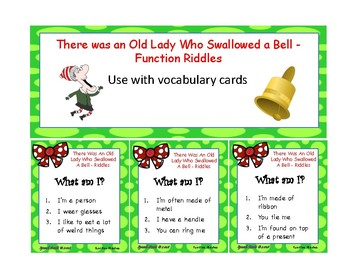 There Was An Old Lady Who Swallowed A Bell - Vocabulary and Oral Expression
