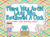 There Was An Old Lady Who Swallowed A Chick Math and Literacy Pack