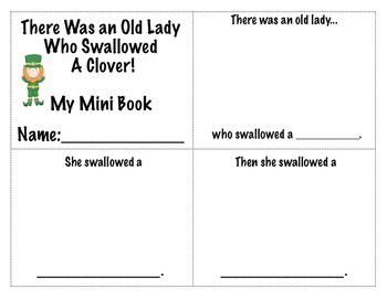 There Was An Old Lady Who Swallowed A Clover! Language Unit