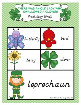 There Was An Old Lady Who Swallowed A Clover! Literacy Acitivty Pack