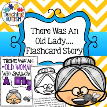 There Was An Old Lady Who Swallowed A Fly Flashcard Story