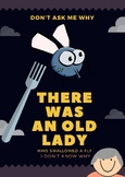 There Was An Old Lady Who Swallowed A Fly Poster