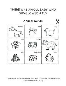 There Was An Old Lady Who Swallowed A Fly Sequencing Activity