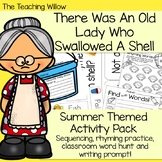 There Was An Old Lady Who Swallowed A Shell Summer Themed