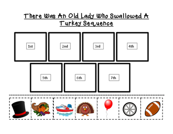 There Was An Old Lady Who Swallowed A Turkey Sequence By For The