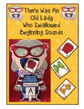 There Was An Old Lady Who Swallowed Beginning Sounds Sorti