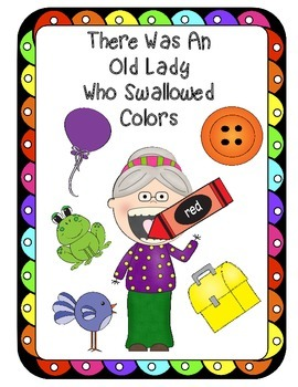 There Was An Old Lady Who Swallowed Colors Recognition Sorting Fun