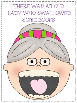 There Was An Old Lady Who Swallowed Some Books Activities