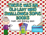There Was An Old Lady Who Swallowed Some Books {Math and Literacy Pack}