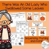 There Was An Old Lady Who Swallowed Some Leaves Activity Pack