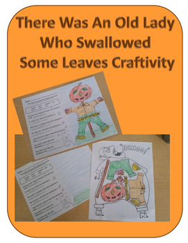 There Was An Old Lady Who Swallowed Some Leaves Craftivity (Fall/Autumn)