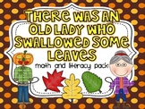 There Was An Old Lady Who Swallowed Some Leaves {Math and Literacy}