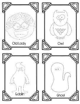 There Was an Old Lady Who Swallowed a Bat Sequence Cards