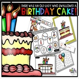 There Was An Old Lady Who Swallowed a Birthday Cake: Book
