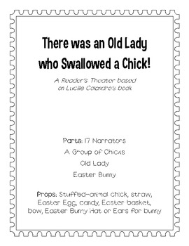There Was An Old Lady Who Swallowed a Chick! Reader's Theater
