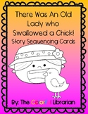 There Was An Old Lady Who Swallowed a Chick Sequence Cards