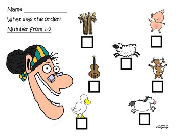 There Was An Old Lady Who Swallowed a Cow, Story Supports + Activities, Autism
