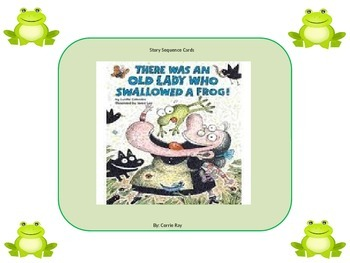 There Was An Old Lady Who Swallowed a Frog Story Sequence Cards