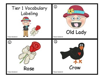 There Was An Old Lady Who Swallowed a Rose - Vocabulary Companion