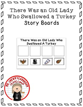 There Was An Old Lady Who Swallowed a Turkey Story Boards
