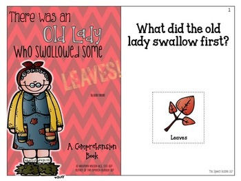 There Was An Old Lady Who Swallowed...Comprehension Book Bundle