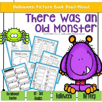 There Was An Old Monster: No Prep Halloween Read-Aloud Activity Printables