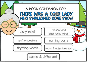 There Was a Cold Lady Who Swallowed Some Snow Book Companion Boom Cards